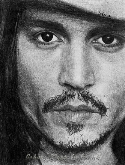 Portrait de johnny depp par irinuk sur stars portraits - Dessin johnny depp ...